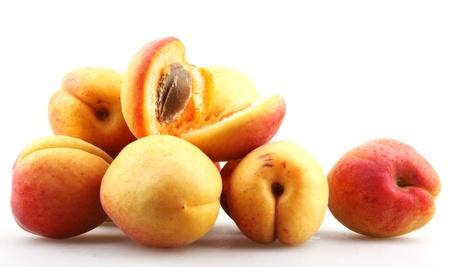 Ripe apricot in closeup. photo