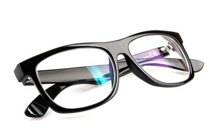 白い背景と分離メガネ