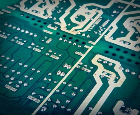 miniaturization: Microcircuit Stock Photo