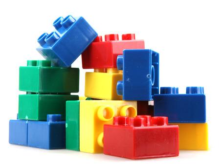 白で隔離のビルディング ブロック