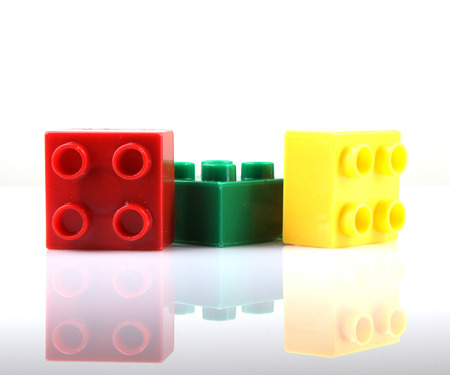 Building Blocks Isolated On White Stock Photo - 23175794