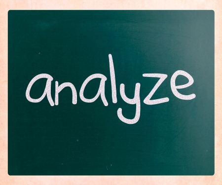 determine: Analyze handwritten with white chalk on a blackboard