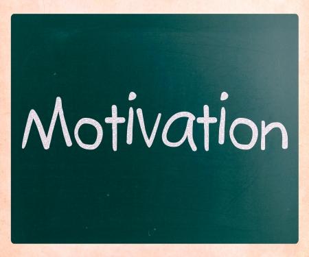 inducement: Motivation handwritten with white chalk on a blackboard