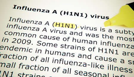 Images of the H1N1 Influenza Virus Stock Photo - 23506596