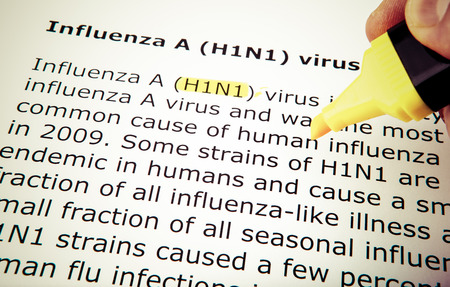 Images of the H1N1 Influenza Virus Stock Photo - 23506597