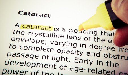 transparent cornea: Cataract