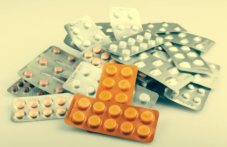uppers: Packs Of Pills Isolated Stock Photo