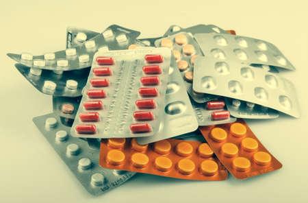 amphetamine: Paquetes de p�ldoras aisladas Foto de archivo