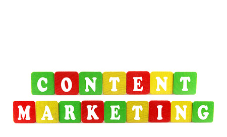 content marketing concept Stock Photo - 24432773