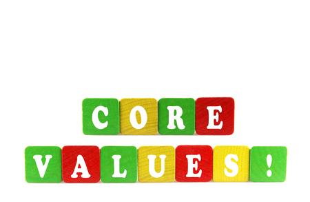 core values concept Stock Photo - 24432774