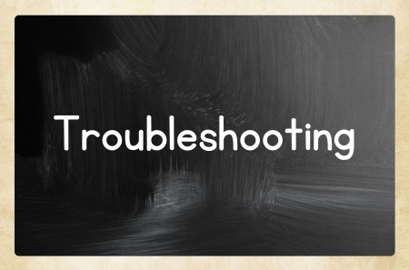 troubleshooting concept Stock Photo