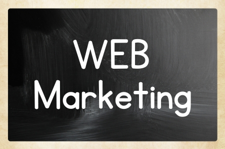 web marketing concept Stock Photo - 24622809