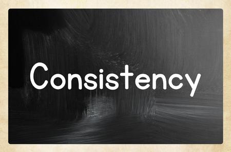 consistency: consistency concept Stock Photo