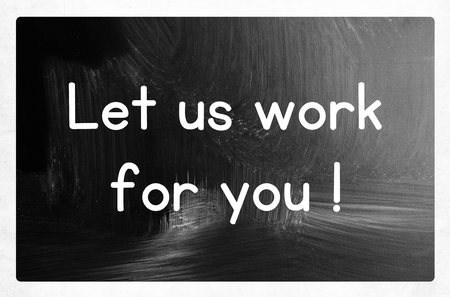 knowhow: let us work for you concept Stock Photo