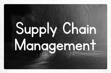 supply chain management concept photo
