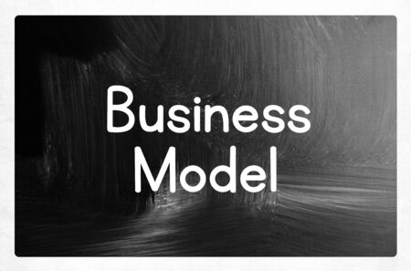 business model: business model concept Stockfoto