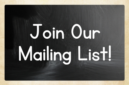 mailing: join our mailing list Stock Photo