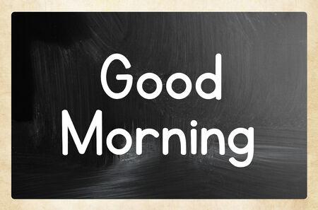 good day: good morning