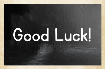 buena suerte: buen concepto de suerte Foto de archivo
