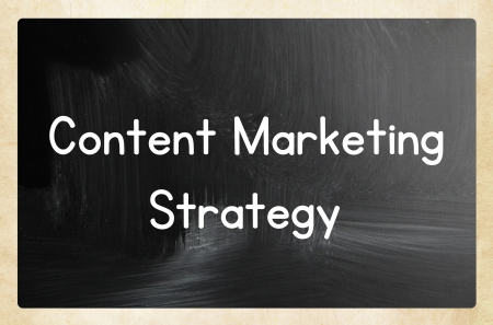 seo concept: content marketing strategy Stock Photo