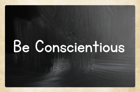 be conscientious concept photo