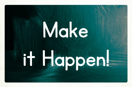 getting started: make it happen concept Stock Photo