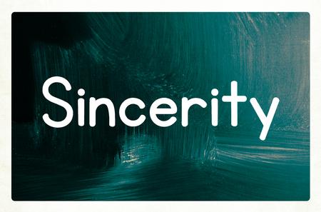 sincerity: sincerity concept