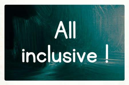inclusive: all inclusive concept