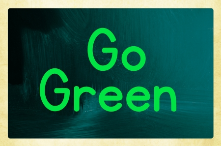 go green: go green concept Stock Photo