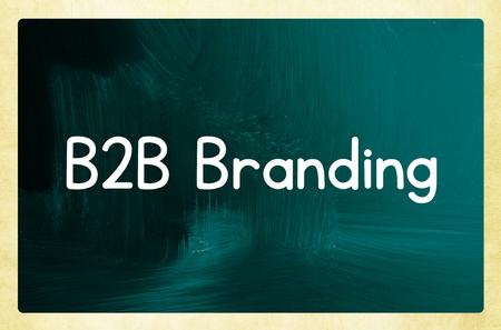 b2b: b2b branding concepto