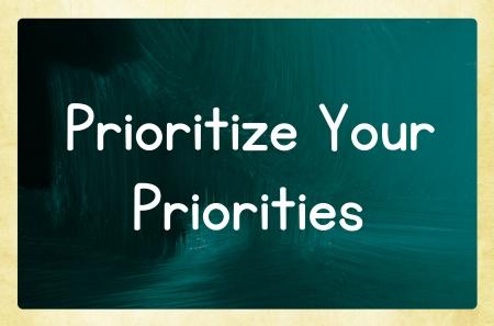 prioritize your priorities photo