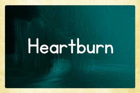 heartburn: heartburn concept