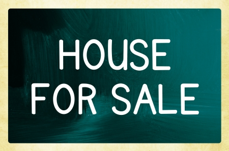 repossessing: house for sale concept