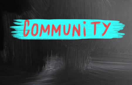 community handwritten with chalk on a blackboard photo