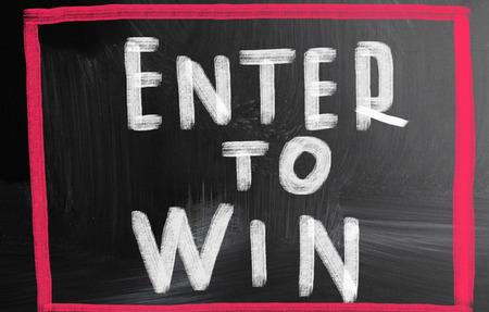 sweepstake: enter to win concept Stock Photo