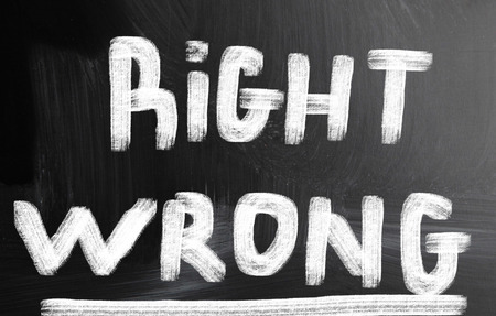 right vs wrong: right wrong concept