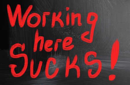 low self esteem: working here sucks!