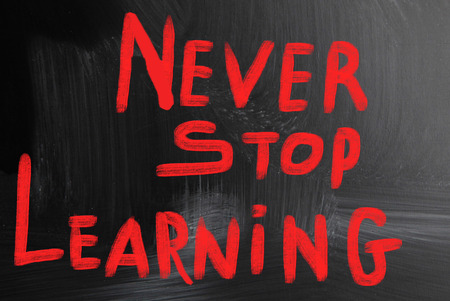 encapsulate: never stop learning Stock Photo