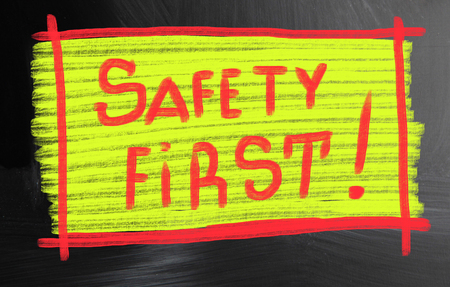 safety first: safety first! Stock Photo
