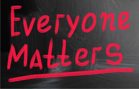 everyone: everyone matters Stock Photo
