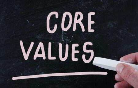 scruples: core values Stock Photo