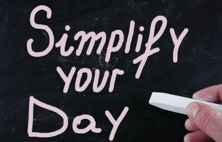 simplify: simplify your day Stock Photo