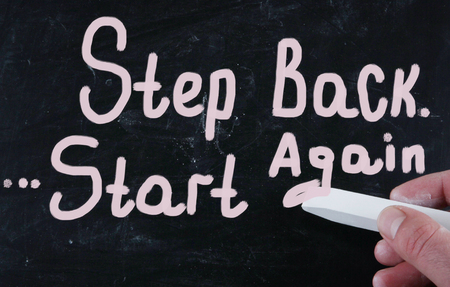 again: step back start again
