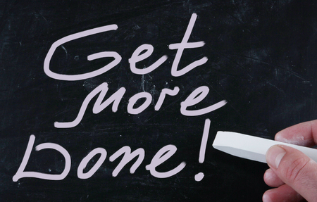organised: get more done Stock Photo