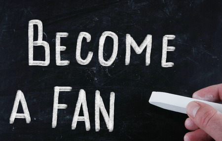 become: become a fan concept