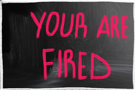terminated: you are fired Stock Photo
