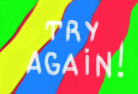 again: try again concept