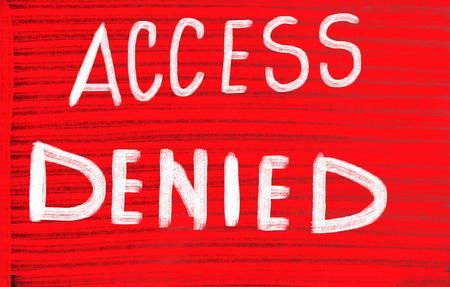 access denied: access denied concept