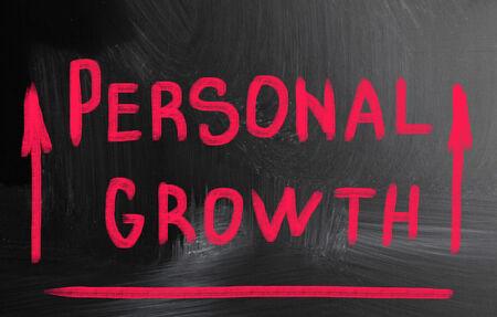 persoonlijke groei: persoonlijke groei concept Stockfoto