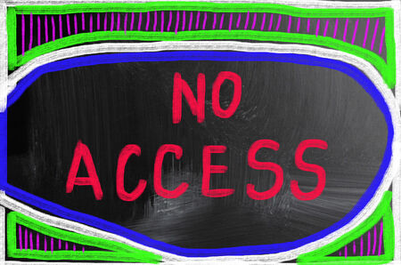allowed to pass: no access concept Stock Photo